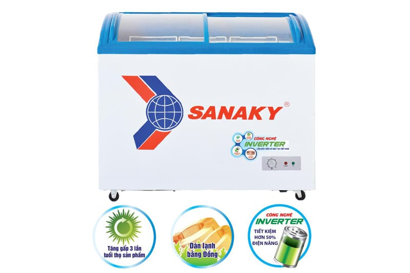 Tủ đông Sanaky Inverter 437 lít VH-6899K3
