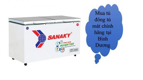 Mua tủ đông tủ mát Sanaky chính hãng tại Bình Dương ở đâu