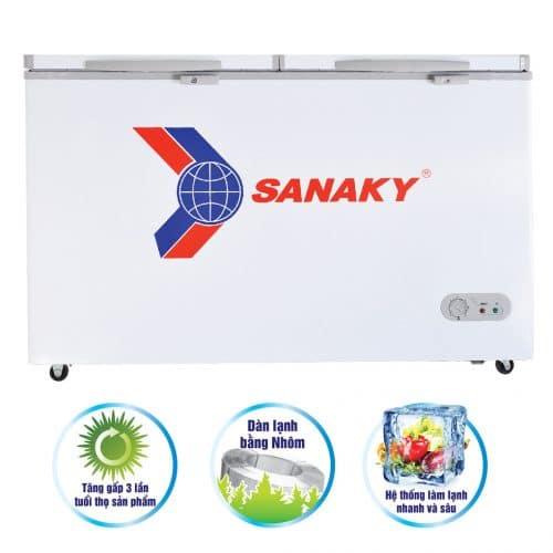 Tủ đông Sanaky 175 lít VH-225A2 dàn lạnh nhôm